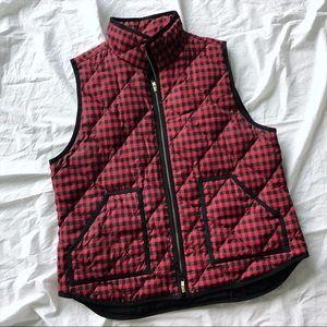 Red and black plaid J.Crew vest